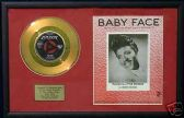 "LITTLE RICHARD - 7"" Gold Disc and Song Sheet  - BABYFACE"